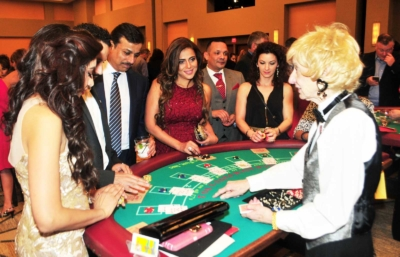 Black Jack table at the 2017 Kings & Queens of Good Hearts Fun-Raiser
