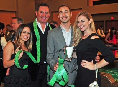 Couples with raffle tickets at the 2017 Kings & Queens of Good Hearts Fun-Raiser