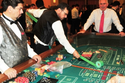 Dealer with tickets at the 2017 Kings & Queens of Good Hearts Fun-Raiser