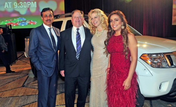 Umer, Mike, Fran Yanity and woman at the 2017 King's and Queen's of Good Heart's Gala