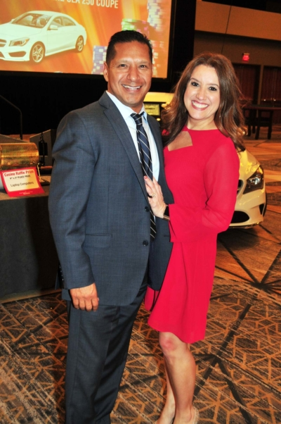 Couple at the 2017 Kings & Queens of Good Hearts Fun-Raiser