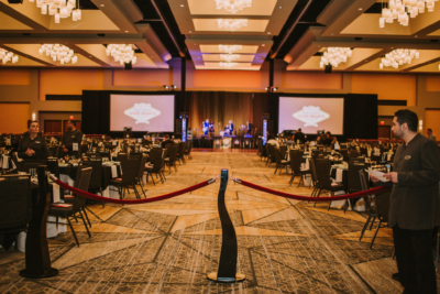 Center of the reception for the 2018 Kings & Queens of Good Hearts Fun-Raiser