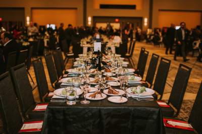 reception table at the 2018 King's & Queen's of Good Hearts Fun-Raiser
